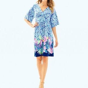 Parigi Dress in the Let's Mango Print